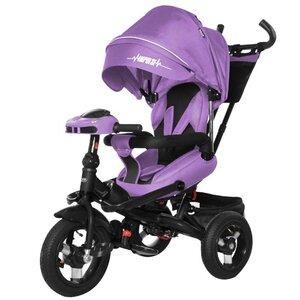 Трехколесный велосипед TILLY Impulse с пультом и усиленной рамой T-386/1 фиолетовый