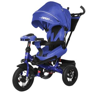 Трехколесный велосипед TILLY Impulse с пультом и усиленной рамой T-386/1 синий