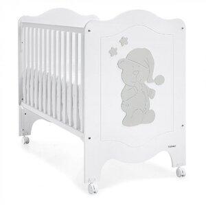 Кроватка Trama Sleepy Bear White/Silver белая