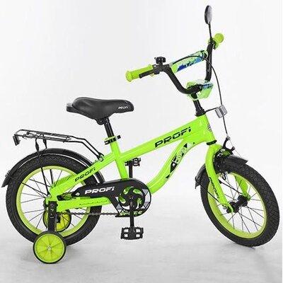 """Двухколесный велосипед Profi Space 14"""" синий,салатовый"""