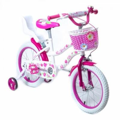 """Двухколесный велосипед 16"""" TZ-006 розовый с корзинкой"""