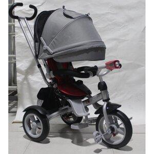 Трехколесный велосипед Crosser T503-Air серо-красный