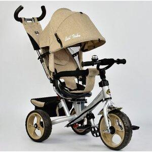 Трехколесный велосипед Best Trike 5700 (бежевый, лен  (3540) с поворотным сиденьем)