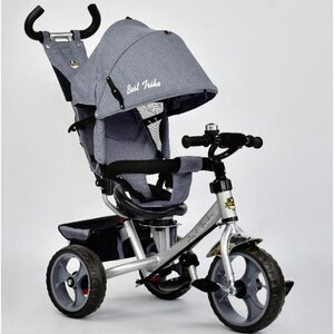Трехколесный велосипед Best Trike 5700 (серый (3650) с поворотным сиденьем