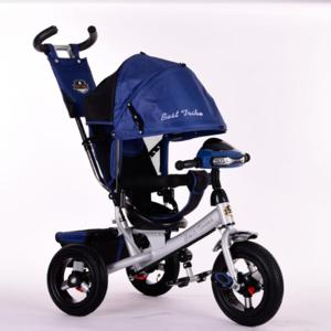 Трехколесный велосипед Best Trike 6588В надувка,синий серая рама