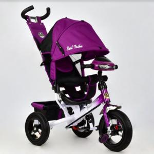 Трехколесный велосипед Best Trike 6588В надувка,фиолетовый белая рама