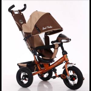 Трехколесный велосипед Best Trike 6588В надувка,бежево-коричневый
