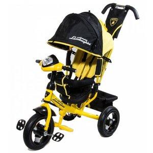 Велосипед трехколесный Lamborgini L 2 2016 надувные колеса желтый