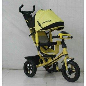 Трехколесный велосипед Crosser One Т1 надувные колеса желтый