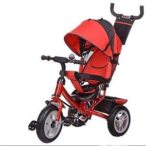 Трехколесный велосипед Turbo Trike М 3113,надувка красный