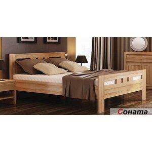 Двуспальная кровать Соната 120*200 см, Венгер
