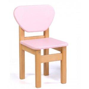Детский стульчик Верес из МДФ цвет розовый