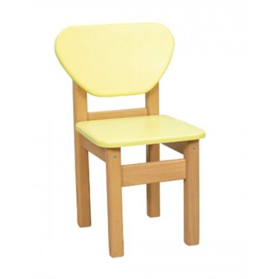 Детский стульчик Верес из МДФ цвет желтый производства Верес - главное фото