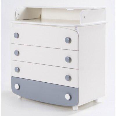 Комод-пеленатор Верес из ДСП (900) цвет бело-серый производства Верес - главное фото