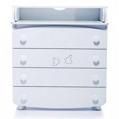 Комод-пеленатор Верес Мишка со стразами цвет белый производства Верес - главное фото