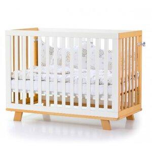 Детская кроватка Верес ЛД1 Манхэттен цвет бело-буковый