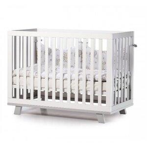 Детская кроватка Верес ЛД1 Манхэттен цвет бело-серый