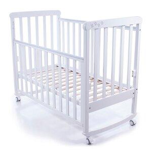 Детская кроватка Верес Соня ЛД-12 белый (резьба лапки)