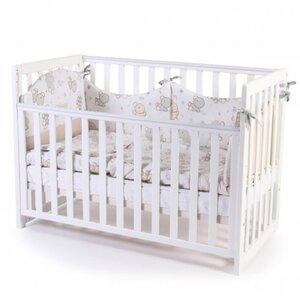 Детская кроватка Верес ЛД13 (без ящика) цвет белый