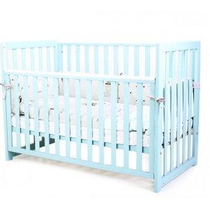 Детская кроватка Верес ЛД13 (без ящика) цвет бирюзовый