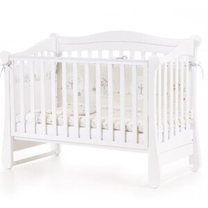 Детская кроватка Верес ЛД18 (без ящика) цвет белый
