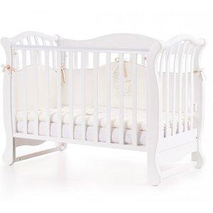 Детская кроватка Верес ЛД19 (без ящика) цвет белый