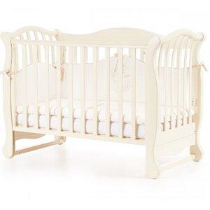 Детская кроватка Верес ЛД19 (без ящика) цвет слоновая кость