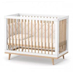 Детская кроватка Верес ЛД2 Нью Йорк цвет бело-буковый