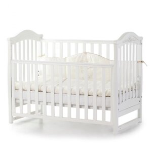 Детская кроватка Верес ЛД3 (без ящика) цвет белый