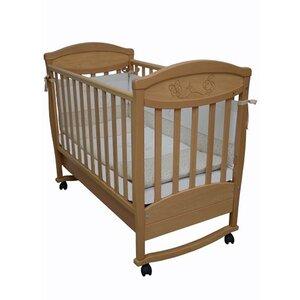 Детская кроватка Соня ЛД-4 (декор резьба зайчик) бук