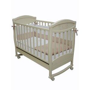 Детская кроватка Соня ЛД-4 (декор резьба зайчик) слоновая кость