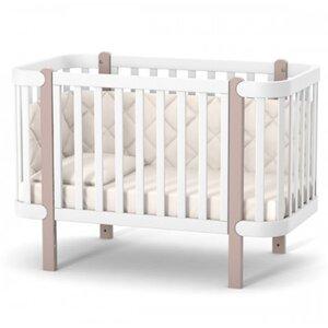 Детская кроватка Верес ЛД5 Монако цвет капучино-белый