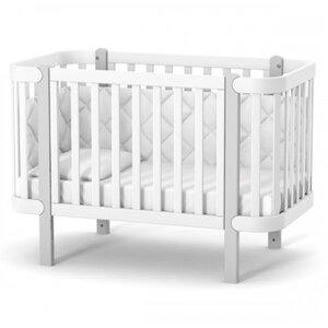 Детская кроватка Верес ЛД5 Монако цвет бело-серый