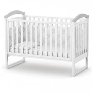 Детская кроватка Верес ЛД6 (без ящика) цвет бело-серый
