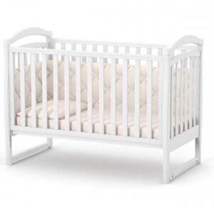 Детская кроватка Верес ЛД6 (без ящика) цвет белый