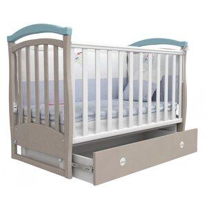 Детская кроватка Верес Соня ЛД-6 (маятник+ящик) капучино/голубой