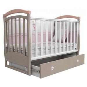 Детская кроватка Верес Соня ЛД-6 (маятник+ящик) капучино/розовый