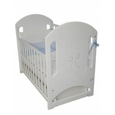 Детская кроватка Верес Соня ЛД-8  (декор Медвежонок со стразами) белый