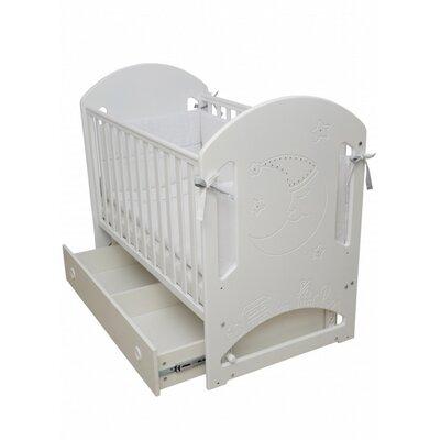 Детская кроватка Верес Соня ЛД-8  (декор Месяц со стразами) белый