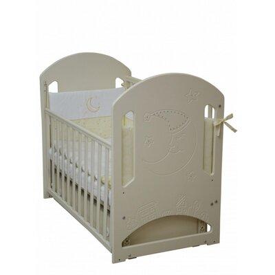 Детская кроватка Верес Соня ЛД-8  (декор Месяц со стразами) слоновая кость