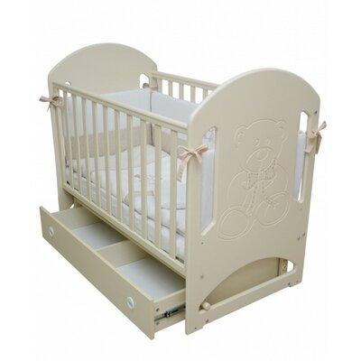 Детская кроватка Верес Соня ЛД-8  (декор Медвежонок со стразами) слоновая кость