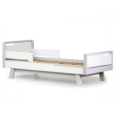 Подростковая кровать Верес Менхэттен (80*160см) цвет бело-серый производства Верес - главное фото