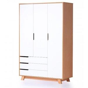 Шкаф Верес Манхэттен (1200 с ящиками) цвет бело-буковый