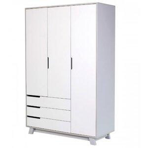 Шкаф Верес Манхэттен (1200 с ящиками) цвет бело-серый