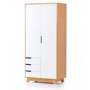 Шкаф Верес Манхэттен (850 с ящиками) цвет бело-буковый