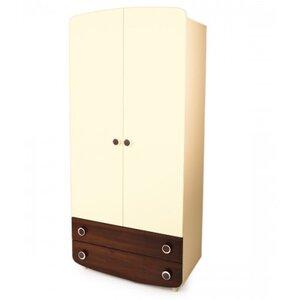 Шкаф №1 Верес из ДСП цвет слоновая кость/орех