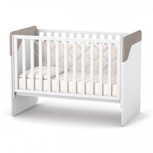 ДетскаЯ кроватка Верес Сидней (без ящика) цвет капучино-белый