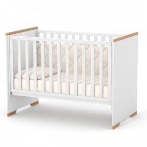 Детская кроватка Верес ЛД9 (без ящика) Сиэтл цвет бело-буковый