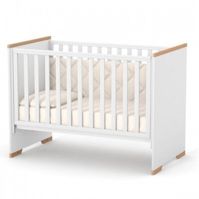 Детская кроватка Верес ЛД9 (без ящика) Сиэтл цвет бело-буковый производства Верес - главное фото