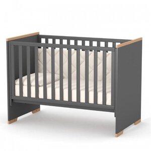 Детская кроватка Верес ЛД9 (без ящика) Сиэтл цвет темно-серый